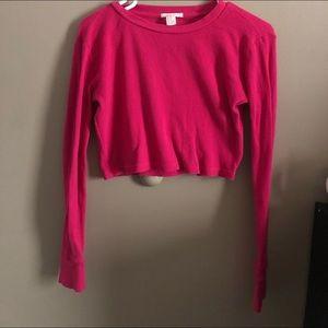 Pink sweater long sleeve